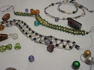 Exhibit D. Method of procrastination: arts and crafts (making jewelry)!